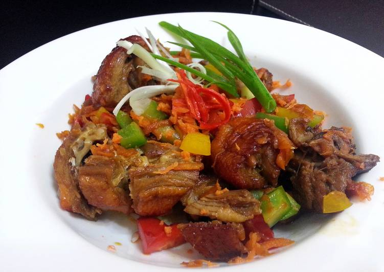 Roasted Duck And Bell Pepper In Teriyaki Sauce