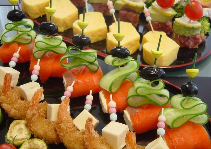 Steps to Make Perfect Party Hors d'Oeuvres Pinchos