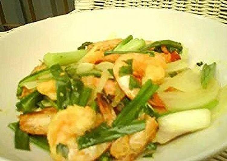 Tumeric sauteed shrimp