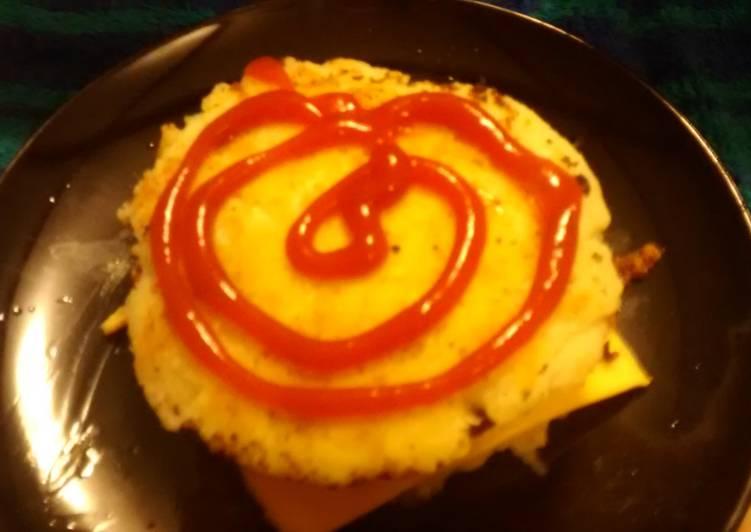 Potato cake chicken sandwich