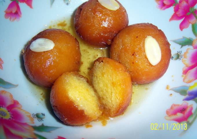 Easiest Way to Prepare Tasty Sobzee's indian Gulab jamun (doughnut like balls soaked in syrup