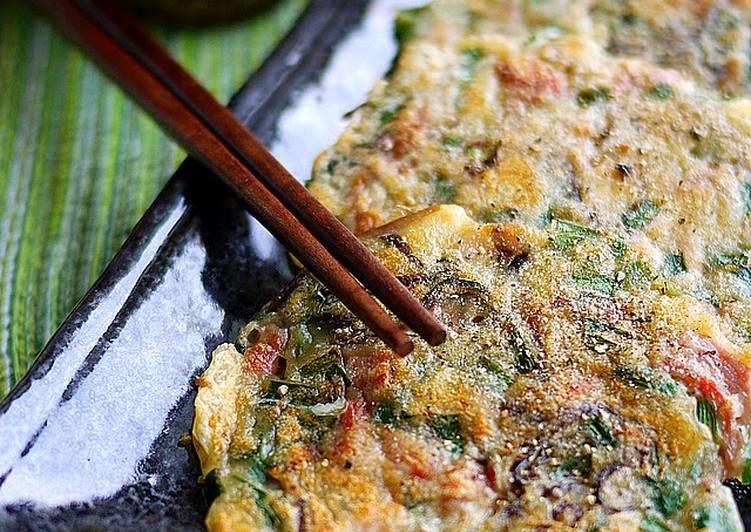 Cheese Jeon with Shio-kombu and Pork