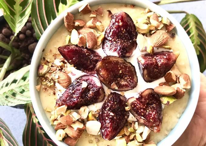 Porridges à la figue fraîche