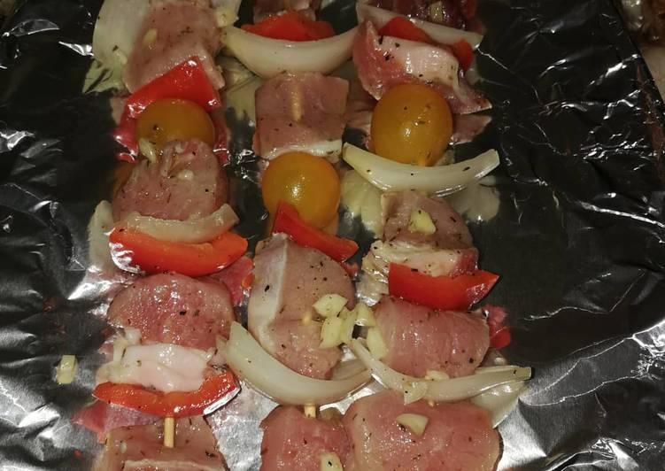 Brochettes de porc