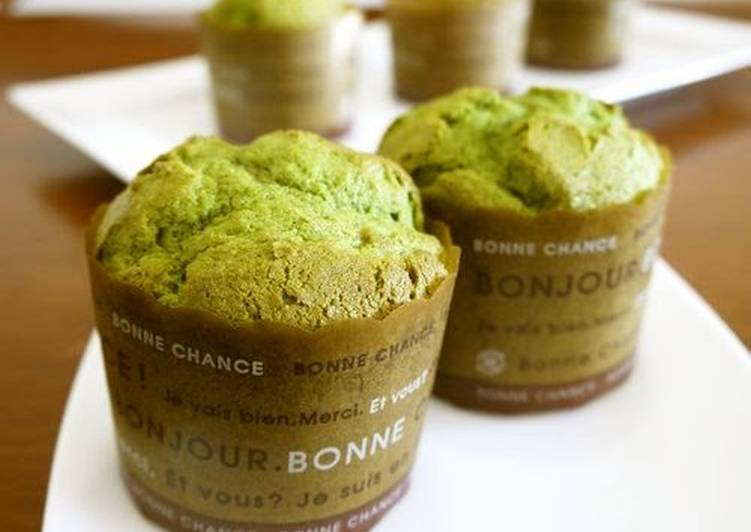 Recipe of Quick Matcha Tea Muffins Using Pancake Mix