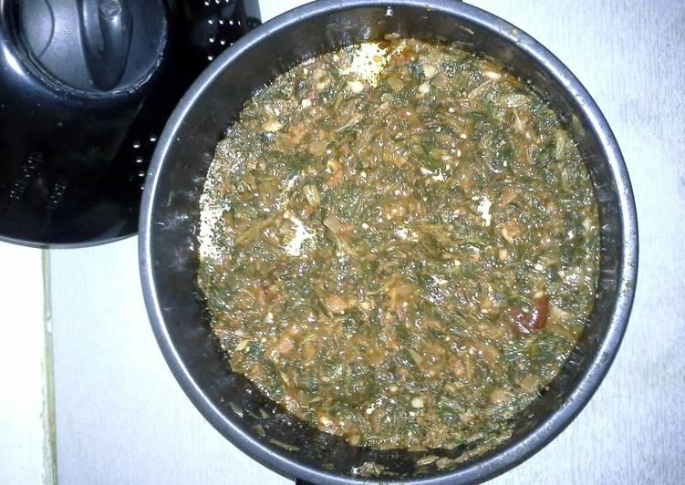 Palaveer sauce and fish
