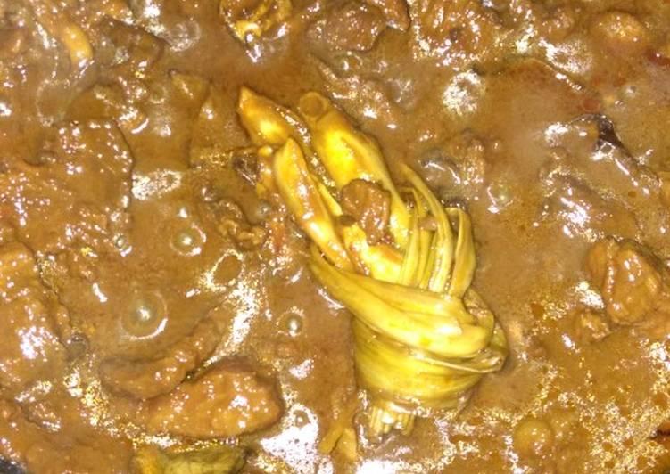 Semur daging rempah kental
