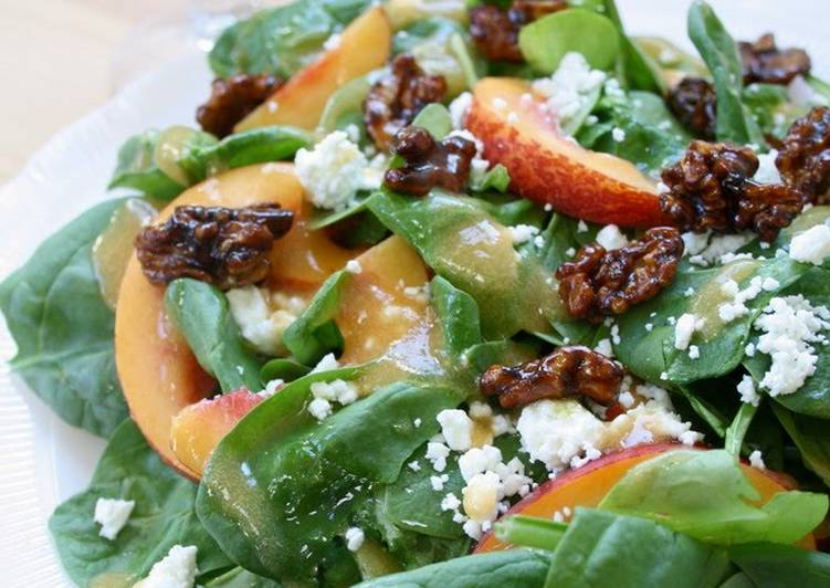 Easiest Way to Cook Yummy Spinach & Nectarine Salad