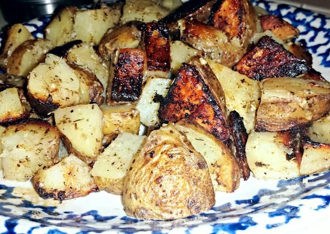 Garlic & Seasalt Grilled Potatoes