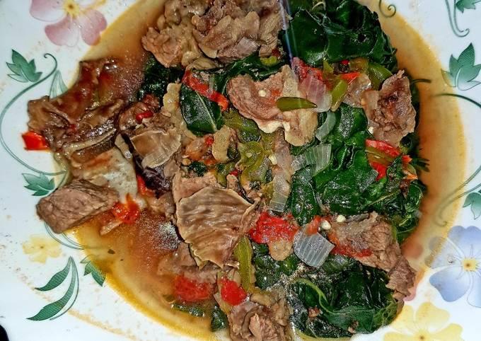 Tumbukiza (beef and spinach)