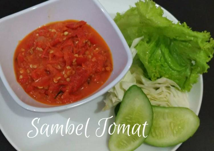Sambel tomat (cocolan ayam bakar/goreng)