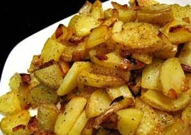 Sauteed/Fried Garlic Flavored Potatoes and Onions