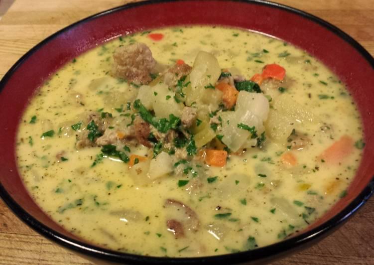 Herbed Ground Turkey Tuscan Sopa