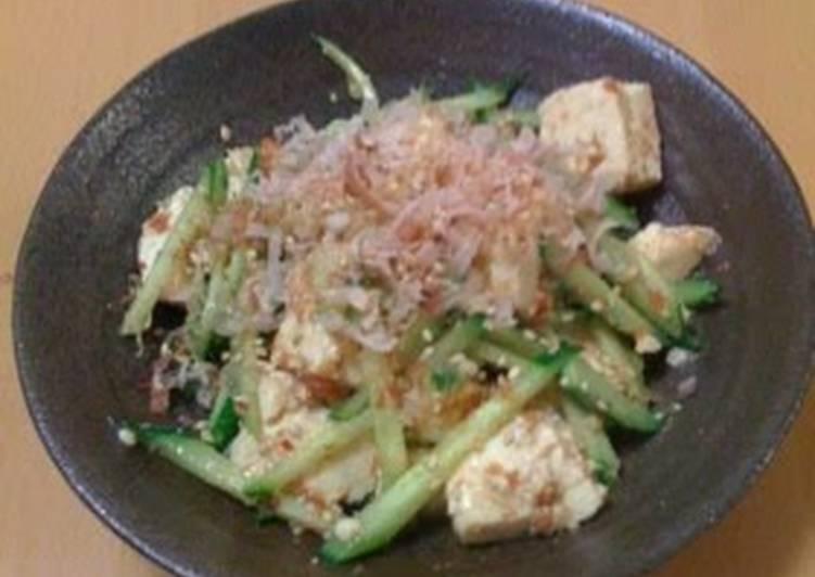 Tofu and Cucumber Salad with Umeboshi-Sesame Dressing