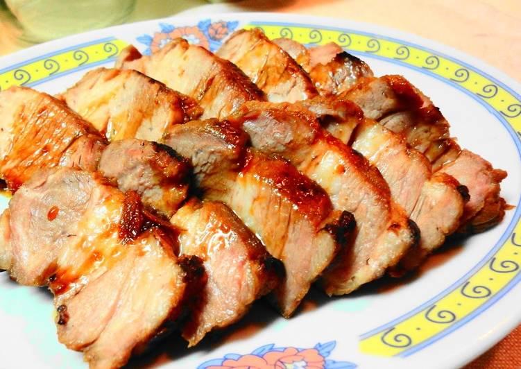 Easy Moist & Tender Simmered & Roasted Pork