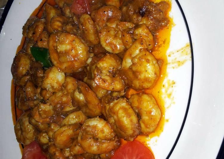 Pam's spicy sauteed shrimp....