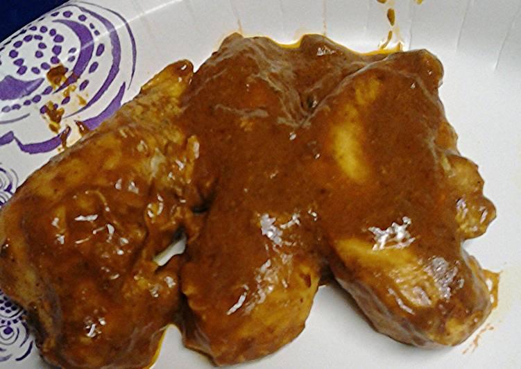 Recipe of Perfect Chicken in chocolate mustard sauce