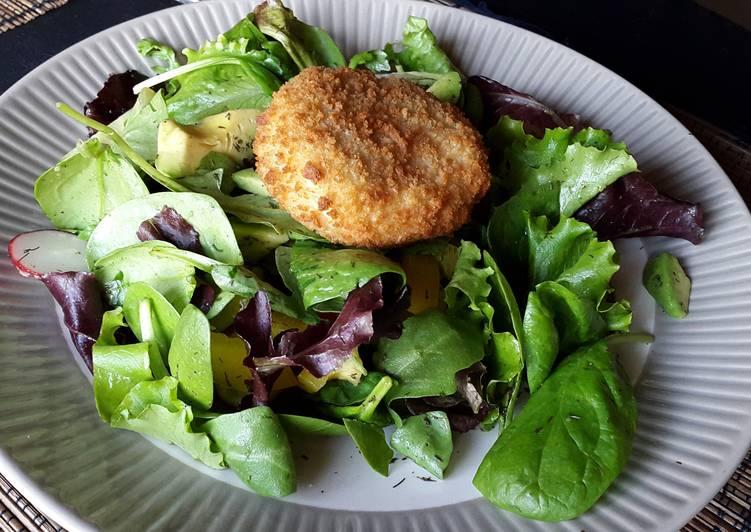 Made by You Hadock fishcake & avocado Salad