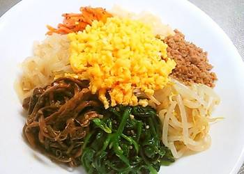 Easiest Way to Recipe Appetizing 8 Namul Bibimbap with Lots of Vegetables