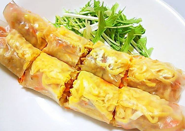 Easiest Way to Make Any-night-of-the-week Memil Jeonbyeong (Buckwheat Crepe) Style Fresh Spring Rolls
