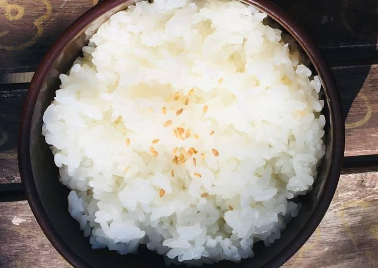 Riz blanc (GO-HAN) à la japonaise sans RiceCooker