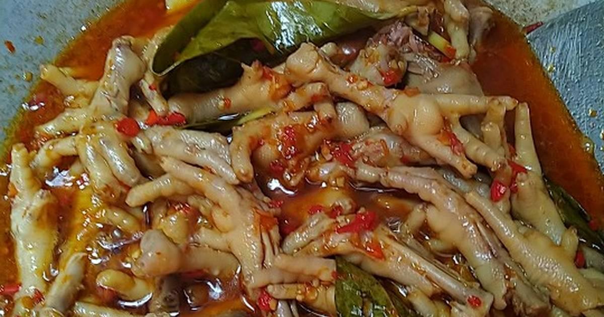 Resep Ceker Ayam Pedas Empuk Presto Oleh Nila Momnafa Cookpad