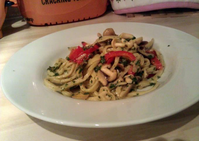 Exotic Mushroom Pasta