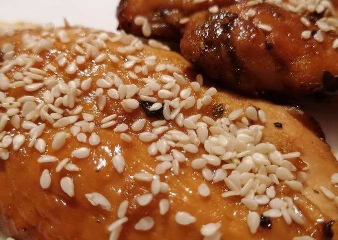 Blanc de poulet sauce miel et balsamique