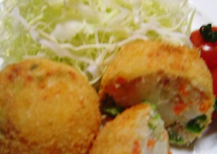 Recipe: Tasty Broccolini, Tuna and Cheese Spring Colored Croquettes