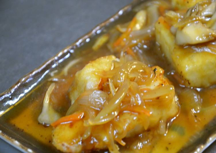 Recipe of Favorite Sautéed Cod and Tofu with Chinese-Style Ankake Sauce