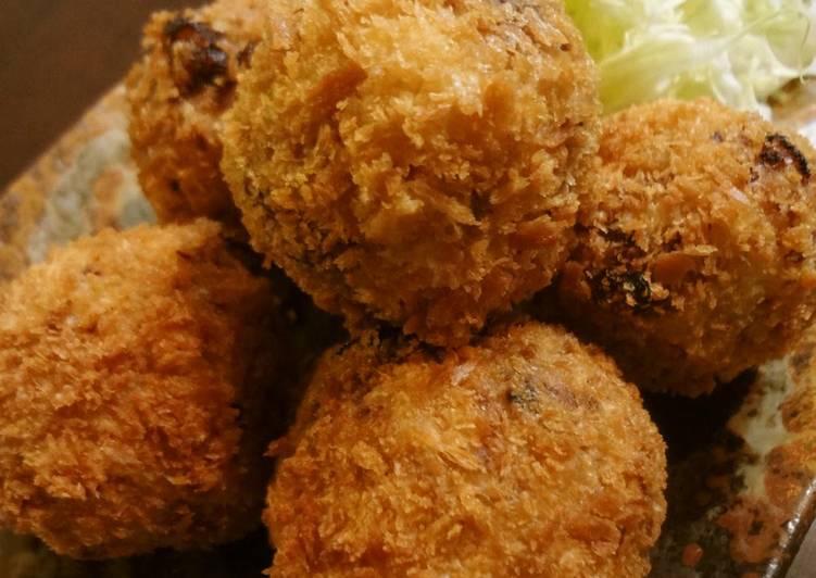 Steps to Prepare Super Quick Homemade Taro Root Potato Croquettes