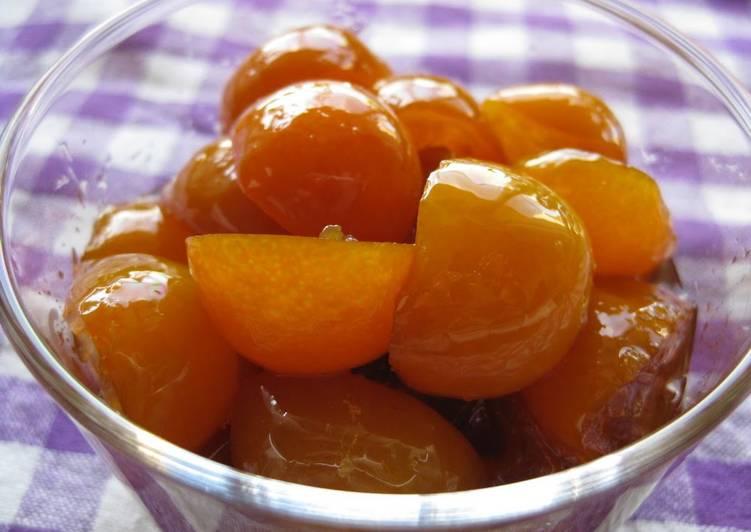 Kumquats Simmered In Rich Sugar Syrup