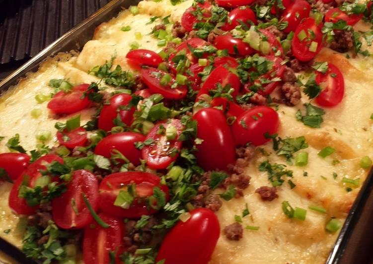 Steps to Prepare Homemade Breakfast Enchiladas