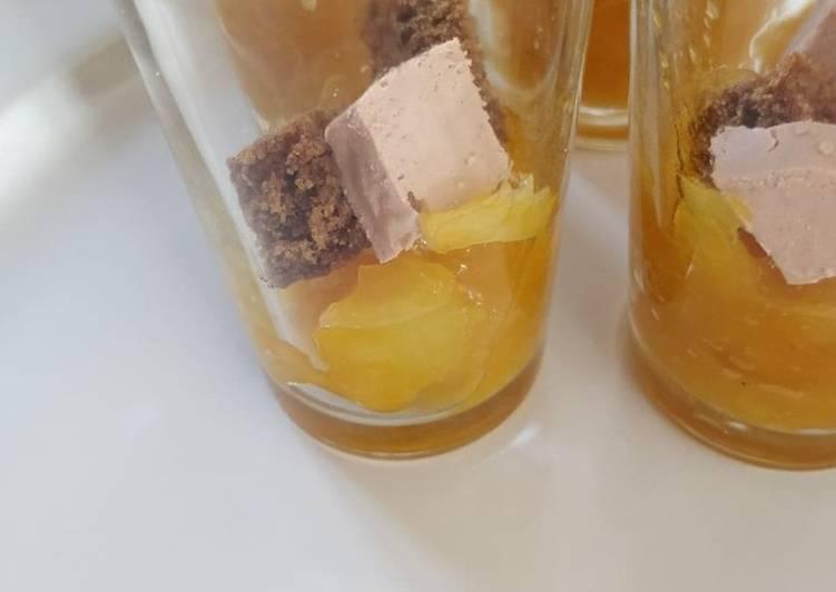 Verrines de chutney mangue-ananas