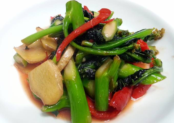 Chinese Brocoli With BBQ Chinese Sauce (Char Siew Sauce )
