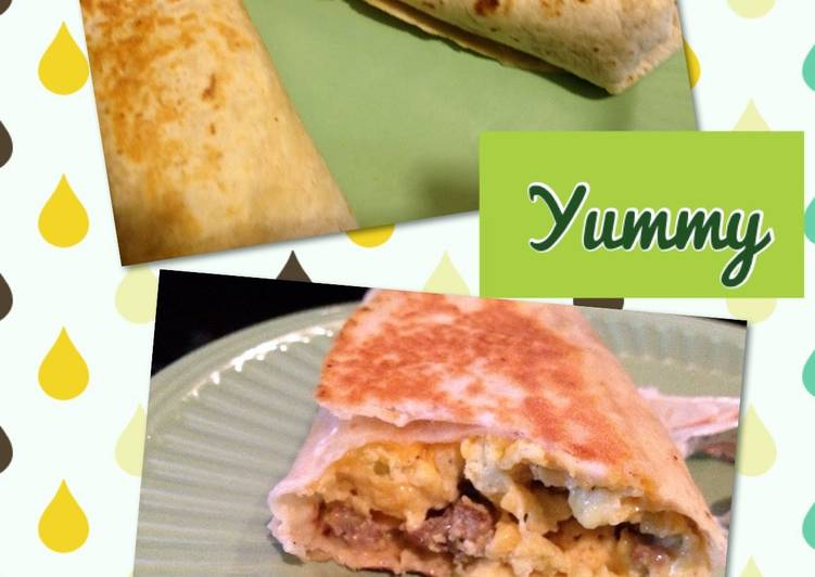 MeMe's Grilled Stuffed Breakfast Burritos