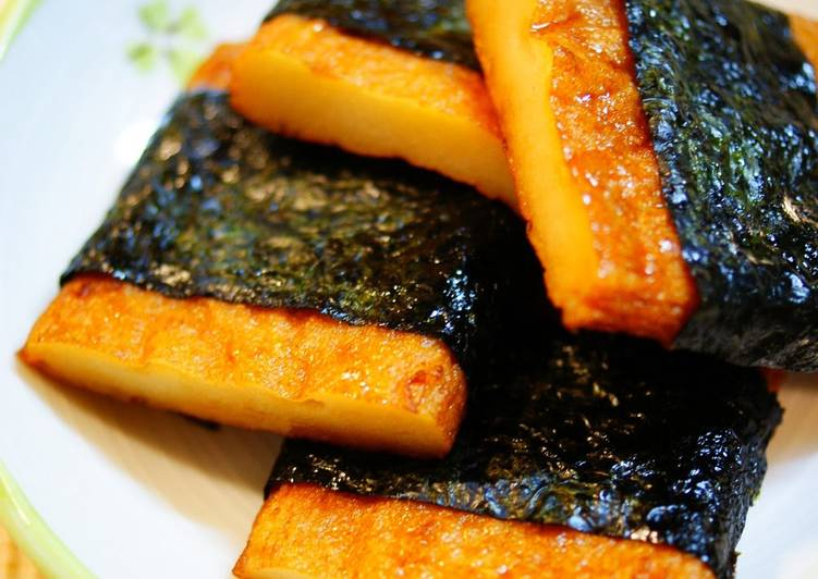 Isobe-yaki Fried Satuma-age with Nori Seaweed