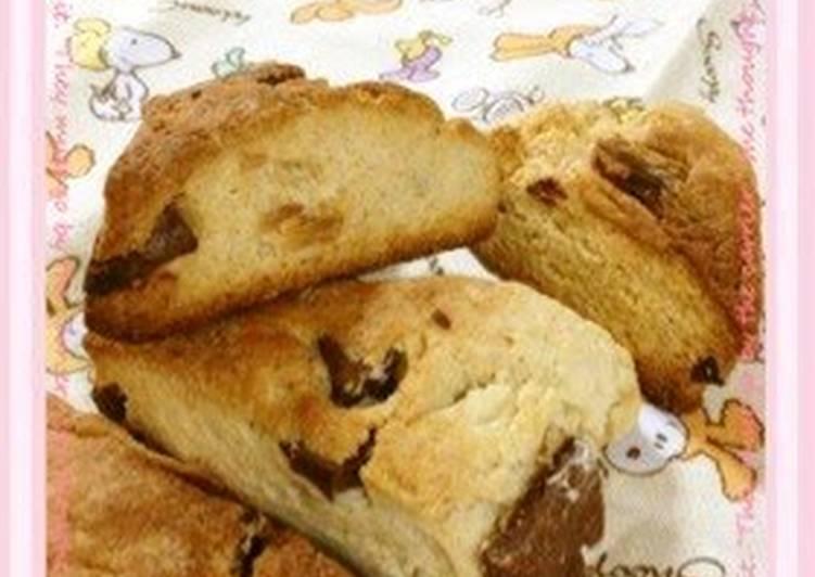 Chocolate Scones with Pancake Mix