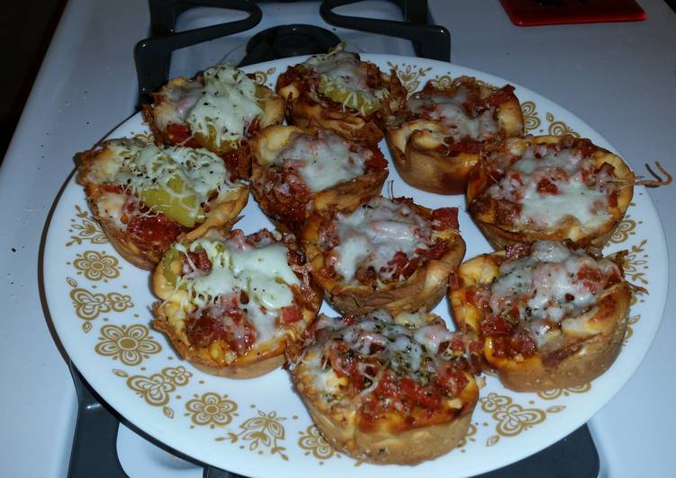 Recipe of Ultimate Pizza Cups