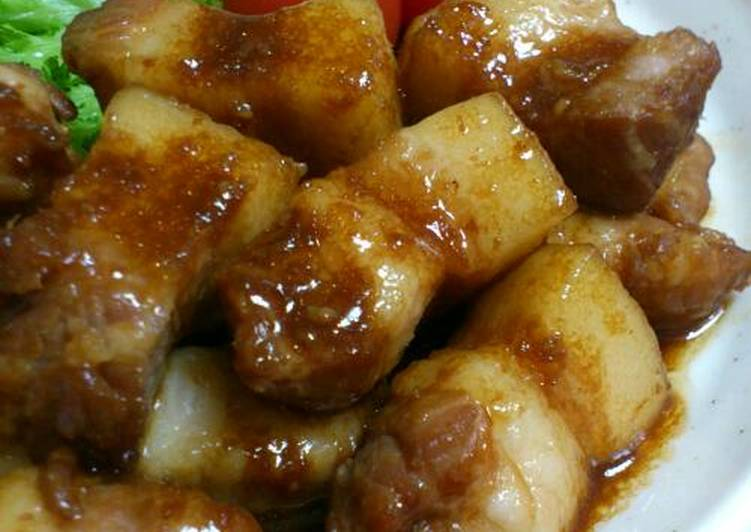 Easy Homemade Filling Ginger Fried Pork Belly Recipe