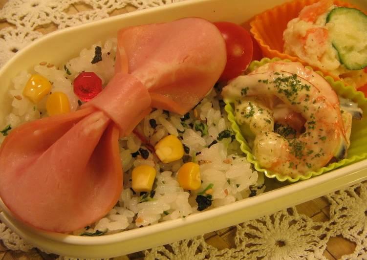Just 1 Slice Ham Ribbon (Decorative Bento)
