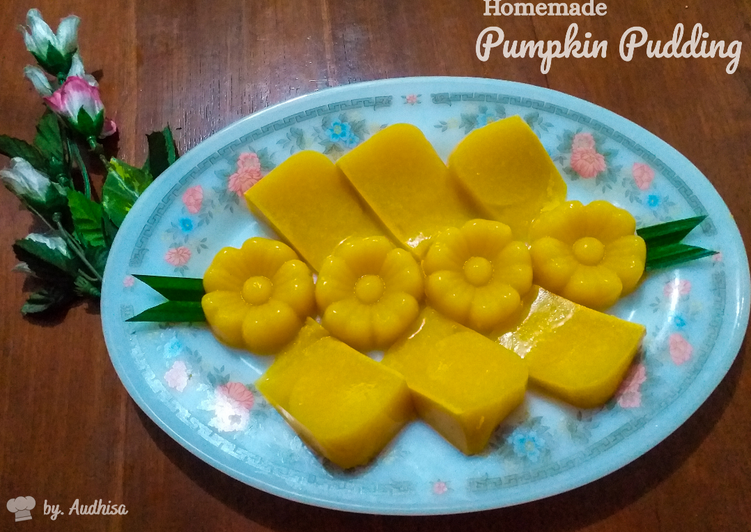 1. Homemade Pumpkin Pudding // Puding Labu