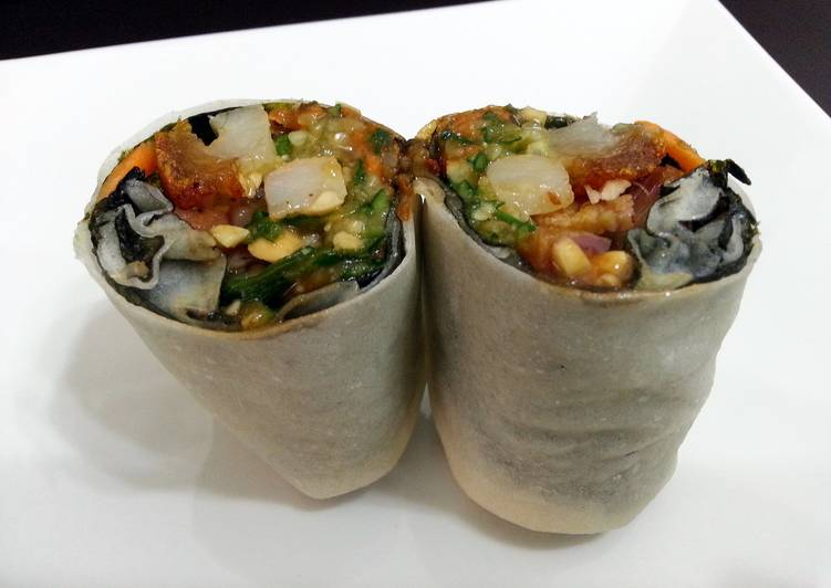How to Prepare Tasty Asian Style Burrito /Popiah Roll