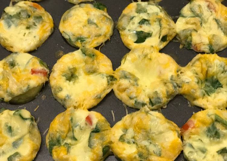 The Best Soft and Chewy Dinner Easy Cooking Spinach, Tomato, and Cheese Omelette Muffins