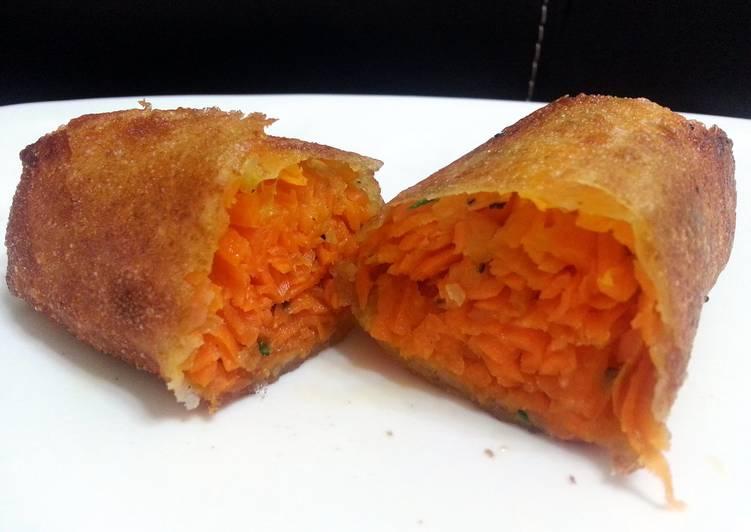 Recipe: Appetizing Carrot Spring Roll