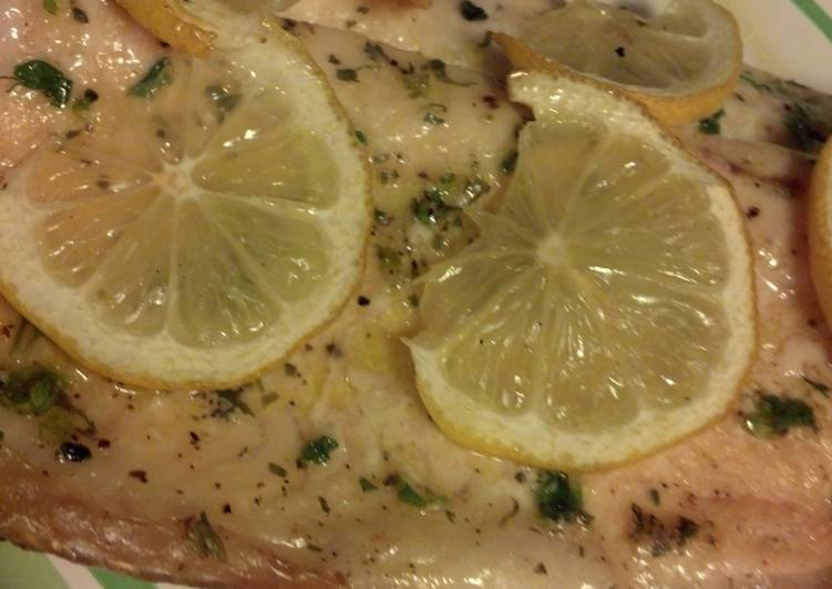 Easiest Way to Make Perfect Grilled lemon trout