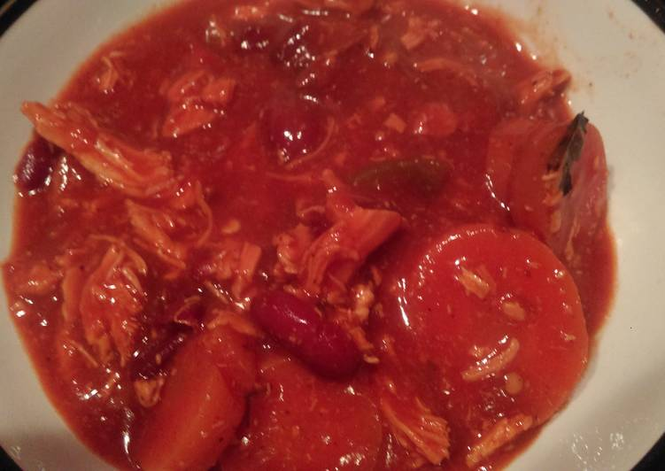 Recipe: Appetizing Amy's shredded chilli chicken crockpot