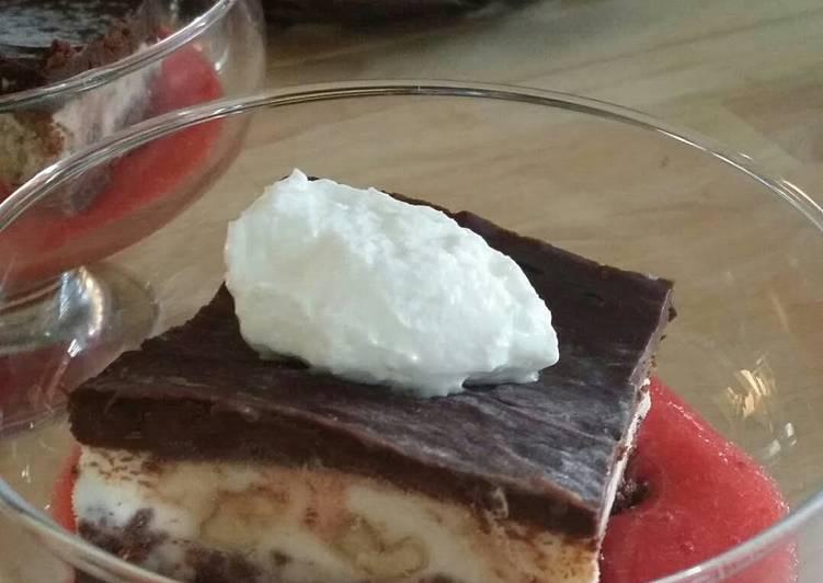 Frozen chunky monkey brownie bars