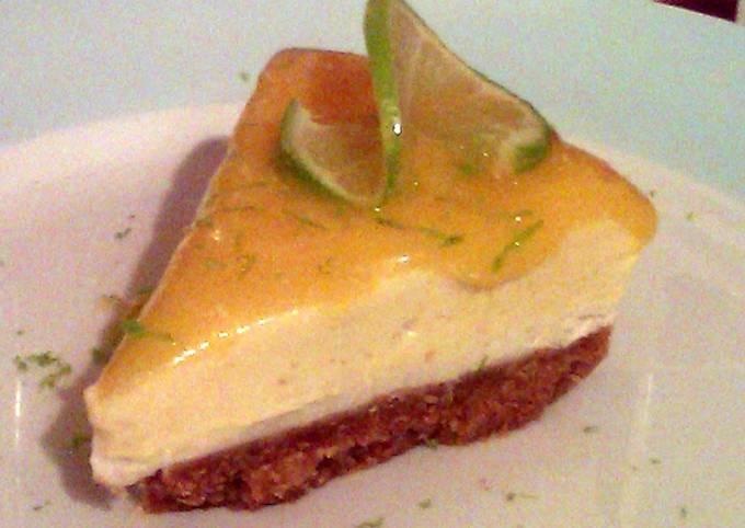 Vickys Unbaked Mango & Lime Cheesecake with Raw Vegan Option