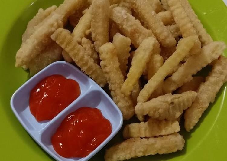 Kentang goreng home made